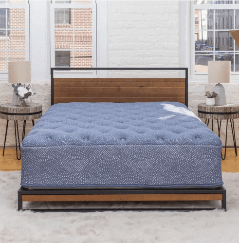 Luft Mattress blue cover in bedroom