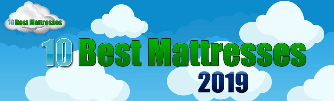 10 best mattresses logo with clouds